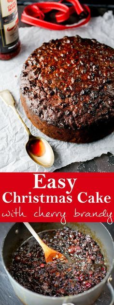 an easy christmas cake that turns out perfect every time no creaming beating or