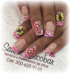 Flower Nails, Toe Nails, Pedicure, Acrylic Nails, Nail Designs, Nail Art, Beauty, Nail Design, Designed Nails