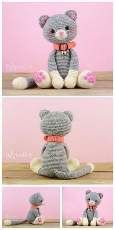 Crochet cat amigurumi plush free pattern – Free Amigurumi Patterns The Effective Pictures We Offer Y Crochet Triangle Pattern, Crochet Bunny Pattern, Crochet Amigurumi Free Patterns, Plush Pattern, Crochet Animal Patterns, Stuffed Animal Patterns, Cute Crochet, Crochet Stuffed Animals, Crochet Dolls