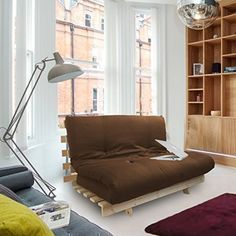 awesome  plete 2 seater futon in brown double wooden futon base and luxury mattress  purple premier cotton twill futon double 4ft wood base frame with      rh   pinterest