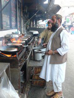 Street restaurant, Quetta, Pakistan