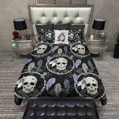 Dream Catcher Skull Duvet Bedding Sets