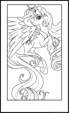 My Little Pony Coloring Pages Printable For Kids