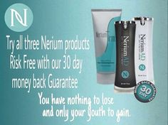 Nerium AD safe for all skin care types!! Clinically proven for real results or your money back!! Rosemary.nerium.com