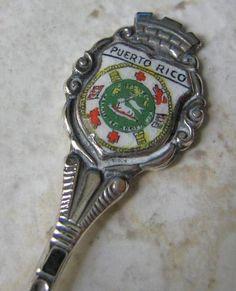 Vintage Sterling Enamel Souvenir Spoon Puerto Rico | eBay