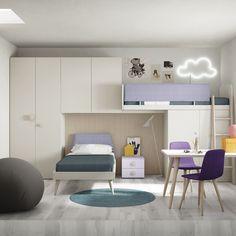 Space saving kids room concept | Nidi by Battistella Company | Available for order @WhiteDotDesign