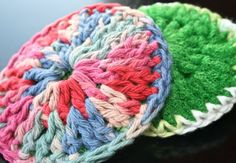 This links to a scrubber pattern made with netting.