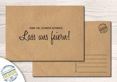 Humor - Witzige Party-Einladung / Postkarte - ein Designerstück von postkartendesign24 bei DaWanda
