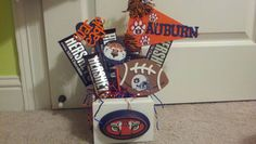 Auburn University Candy Bouquet: Make something like this for guests that visit during football season.