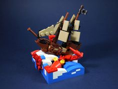 This tiny LEGO ship is in dire straits