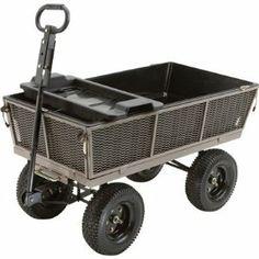Gorilla Carts Dumping Yard Cart   44in.L X 24in.W, 1200 Lb. Capacity,  Model# NTEMP10