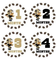 Monthly Stickers Monthly Baby Boy Sport Stickers New by LabelitAll