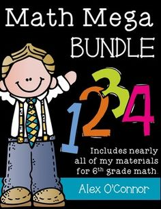 This bundle includes over 75 of my individual products for upper elementary and middle school math. Much of my store is included. Products are designed for 6th grade math, but can be used from 5th-7th grade math. Individually, the products included in this bundle amount to over $130.