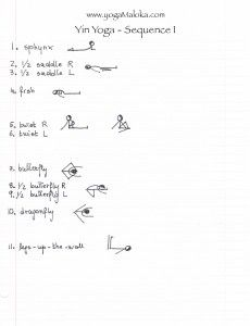 Yin sequence 1, 11 poses