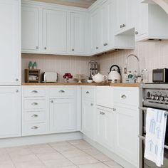White kitchen units | Country kitchens | Kitchen units | housetohome.co.uk