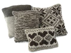 Knitted pillow fair isle pillow hand knit pillow by HootersHall