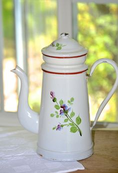 French enamelware coffee Biggin