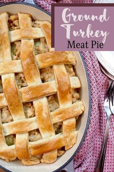 This classi French Meat Pie is elegant and easy to make. Perfect for Thanksgiving. #groundturkeyrecipes #turkeyrecipes #frenchcookingathome #meatpie Easy Chicken Dinner Recipes, Entree Recipes, Tart Recipes, Easy Meals, Incredible Recipes, Great Recipes, Favorite Recipes, Good Food, Yummy Food