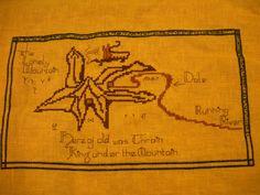 Cross Stitch: Lonely Mountain - Smaug