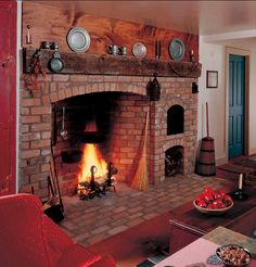 Fireplace and baking oven