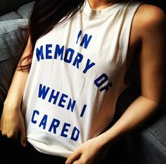 RIP the weekend. Get this Monday motto tee from Feather Hearts in the #NYLONshop HERE: www.shop.nylonmag.com/products/in-memory-tank