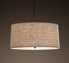 Over the Dining Table:  5 Drum Shade Pendant Lights For a Soft, Diffused Glow   Product Roundup