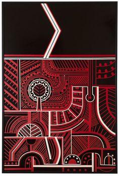 Para Matchitt's Untitled paintings of the late are a conceptual narrative relating to the life of Te Kooti Arikirangi Te Turuki of Rongowhakaata, a l. Auckland Art Gallery, Life Map, Google Art Project, Maori Designs, New Zealand Art, Nz Art, Maori Art, Indigenous Art, Tribal Art