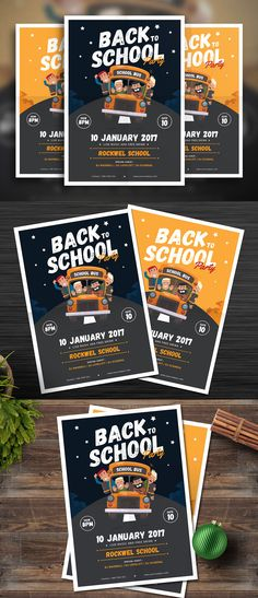 Back To School  Ai Illustrator Flyer Template And Template