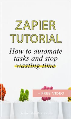 Want to learn how to Automate Tasks and STOP WASTING TIME!?  Zapier is a great productivity system designed to automate systematic tasks between systems and allow you to get more things done in your business #businesstips #productivity #productive #automationtips #onlinebusiness