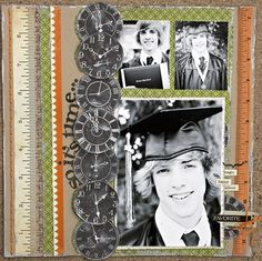 Time flies. Use clocks on graduation pictures.