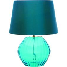 The Marni Table Lamp is bold and bright and it great for adding a shot of colour to your home. This teal coloured glass lamp base comes complete with a teal coloured tapered shade. Features include - Retro look, Bright coloured glass, Matching pendant shade available.
