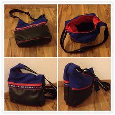 Allesdrin, ein Mix aus Canvas und Kunstleder Backpacks, Bags, Fashion, Artificial Leather, Handbags, Moda, Fashion Styles, Backpack, Fashion Illustrations
