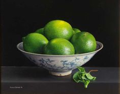 Still Life with Limes and Mint