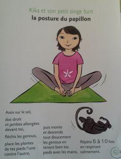 Postures tirees du livre Le yoga de Kika.  Video de Pedayoga yoga pour se concentrer