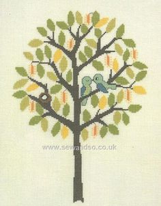 Buy Spring Tree and Birds Cross Stitch Kit Online at www.sewandso.co.uk