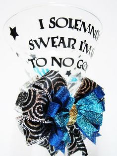 """Harry Potter martini glass """"I solemnly swear I am up to no good"""". Perfect for…"""
