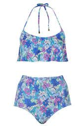 Floral High Waisted Bikini