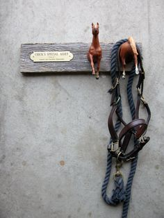 Ribbon Rack or Horse Nameplate (for stall, tack room, bedroom, etc.) - I really like the name plate idea ! Horse Stalls, Horse Tack, Dream Stables, Horse Crafts, Horse Farms, Horse Love, Show Horses, My New Room, Tallit