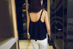 Spaghetti Straps Flouncing 2 Layers Lace Top