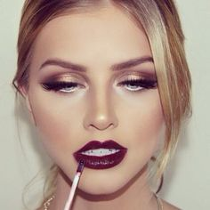 """Perfect lip colors for fall- check out the """"Bold Lips: Maroon Madness"""" post on ctbeautyblog.com"""