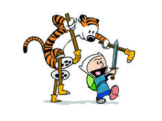 Calvin & Hobbes/Adventure Time Mash-up! <3