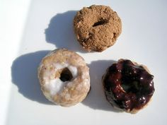 PALEO Raw Crumb Donuts From Bryan Au - www.ecochefapp.com....  2 large Bananas 1 1/2 cups Golden Flax Seeds Coconut Nectar Coconut Crystals Cinnamon