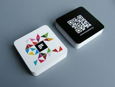 Mini square business cards are creative and cost effective innovation. Mini business cards are different from that same old style business cards design Square Business Cards, Unique Business Cards, Corporate Design, Business Card Design, Qr Code Business Card, Corporate Identity, Stationery Design, Branding Design, Name Card Design