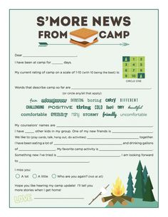 printable 5 fun ideas for letters to campers sunshine parenting summer camp welcome letter template