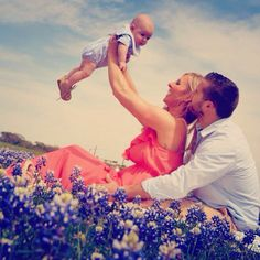 3 month old family photo. TX blue bonnet spring pictures