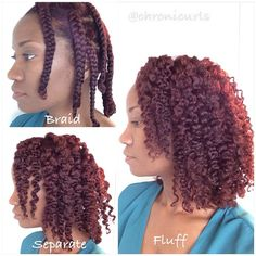 Stretched hair with #curlformers is a perfect way to set up for #braidout. Products used: @edenbodyworks curl defining creme and ecostyler gel. If you choose to add water first, just a little will do or your hair will try to revert back to their natural curls.
