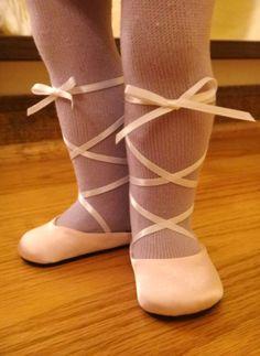 American Girl Doll Ballet Slippers Craft