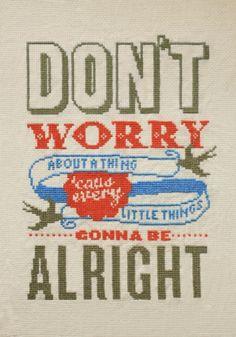 Emma Congdon's Don't Worry Cross Stitch Design