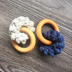 NEW styles of teething rings in the shop! Crochet and wood Interlocking teether. 1 for $8 or 2 for $14