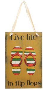 Live Life Flip Flops